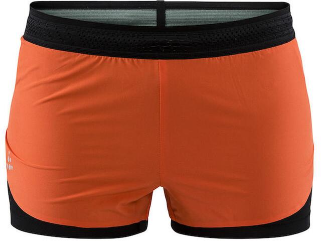 Craft Nanoweight Spodenki do biegania Kobiety pomarańczowy/czarny